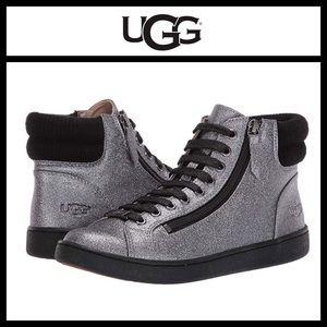 UGG Olive Glitter High Top Sneaker NWOB